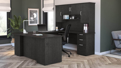 Pending - Bestar U-Desk Murzim U or L-Shaped Executive Desk with Hutch - Available in 2 Colors