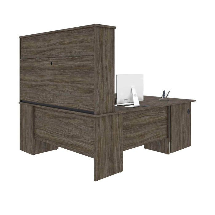 Pending - Bestar U-Desk Murzim U or L-Shaped Executive Desk with Hutch - Available in 2 Colours