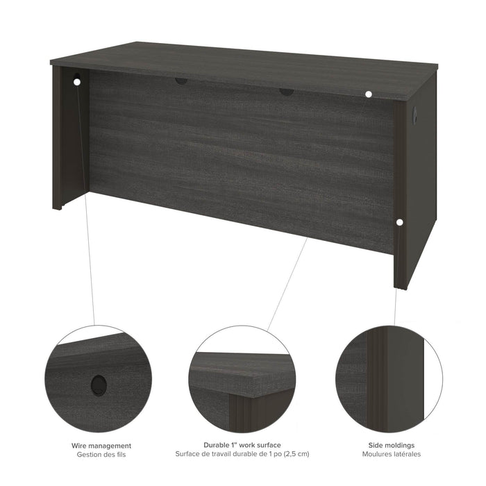Pending - Bestar U-Desk Prestige + U-Shaped Executive Desk with Hutch and 2 Pedestals - Available in 3 Colors