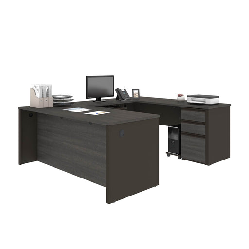 Pending - Bestar U-Desk Prestige + U-Shaped Executive Desk with Pedestal - Available in 3 Colours
