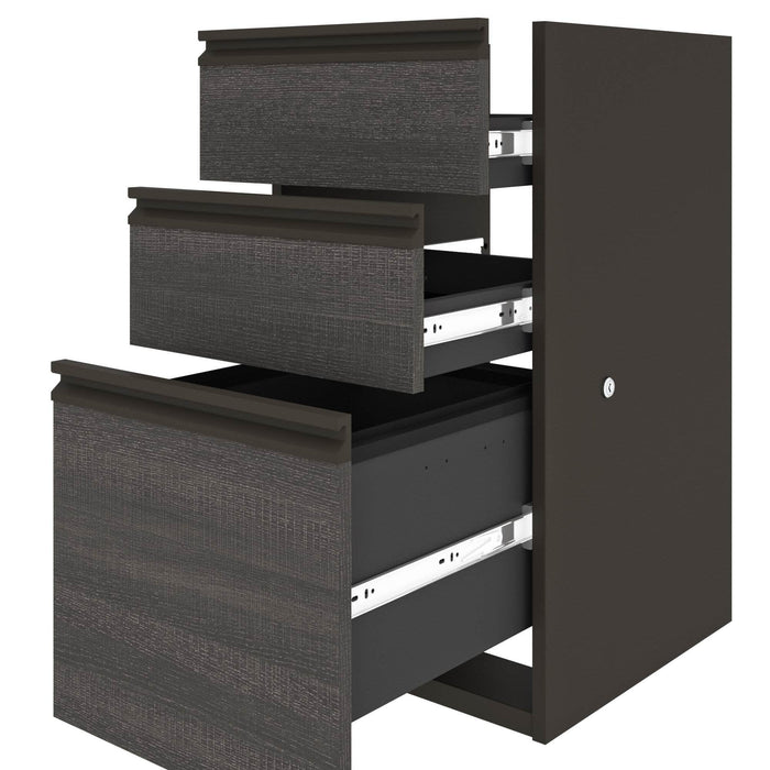 Pending - Bestar U-Desk Prestige + U-Shaped Executive Desk with Pedestal - Available in 3 Colors