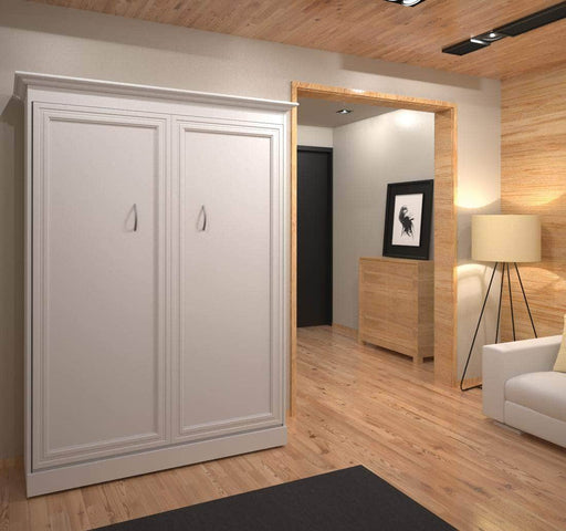 Pending - Bestar Versatile Full Murphy Bed in White