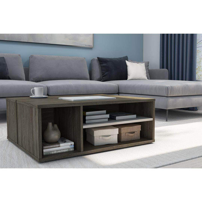 Pending - Bestar Walnut Grey & Sandstone Fom Coffee Table - Available in 2 Colors