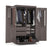 "Pending - Bestar Wardrobe Bark Grey Pur 49"" Wardrobe with Pull-Out Shoe Rack - Available in 2 Colours"