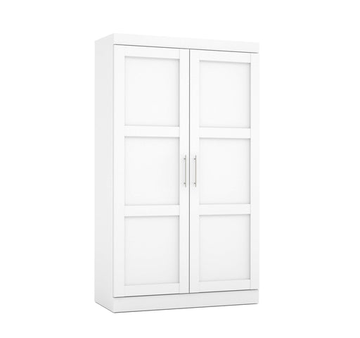 "Pending - Bestar Wardrobe Pur 49"" Wardrobe with Pull-Out Shoe Rack - Available in 2 Colors"
