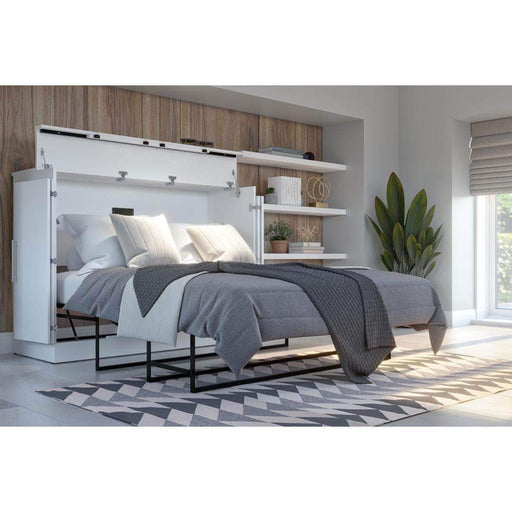 Pending - Bestar White Nebula Full Murphy Cabinet Bed with Mattress - Available in 2 Colors
