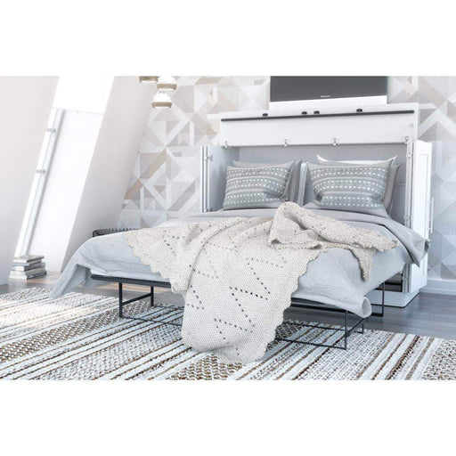 Pending - Bestar White Pur Full Murphy Cabinet Bed with Mattress - Available in 3 Colors
