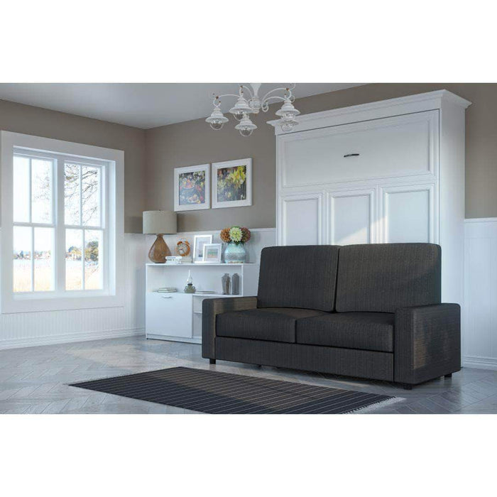 Pending - Bestar White with Grey Sofa Versatile Queen Wall Bed and Sofa - Available in 2 Colours