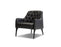 Pending - Mobital Arm Chair Black / Leather Ellington Arm Chair With Black Wood Legs - Multiple Options Available