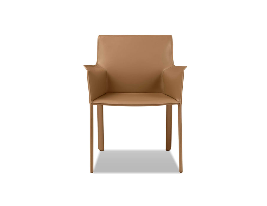 Mobital Arm Chair Caramel Fleur Arm Chair Full Leather Wrap - Available in 4 Colors