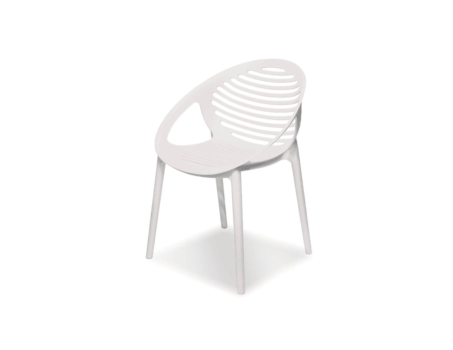 Mobital Arm Chair Gravely Polypropylene Arm Chair Set Of 4 - Available in 2 Colors