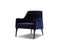 Mobital Arm Chair Navy / Fabric Ellington Arm Chair With Black Wood Legs - Multiple Options Available