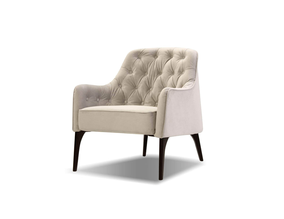 Mobital Arm Chair Oyster Velvet / Fabric Ellington Arm Chair With Black Wood Legs - Multiple Options Available