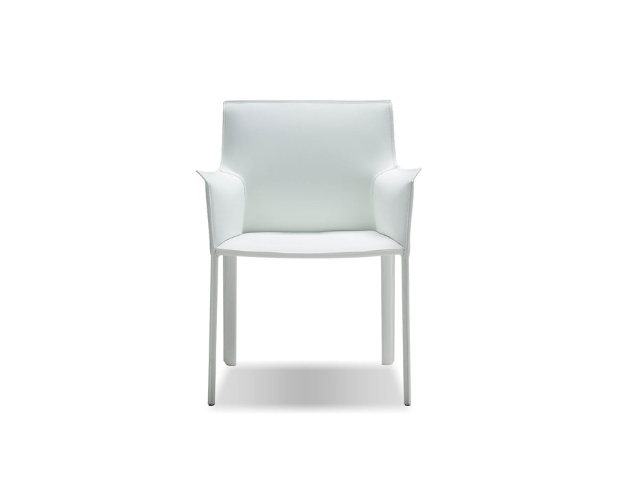 Pending - Mobital Arm Chair White Fleur Arm Chair Full Leather Wrap - Available in 4 Colors