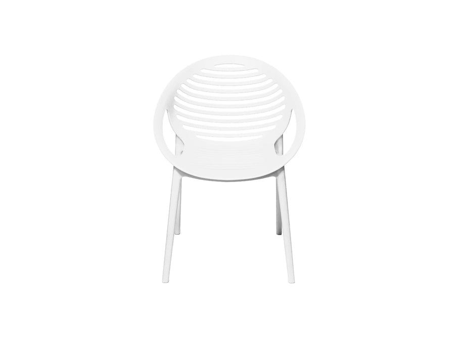 Mobital Arm Chair White Gravely Polypropylene Arm Chair Set Of 4 - Available in 2 Colors