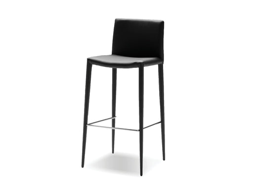 Pending - Mobital Bar Stool Black Zeno Full Leatherette Wrap Bar Stool Set Of 2 - Available in 3 Colors