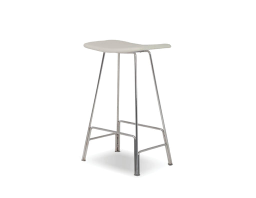 Mobital Bar Stool White Canaria Leather Bar Stool With Black Powder Coated Steel - Available in 2 Colors