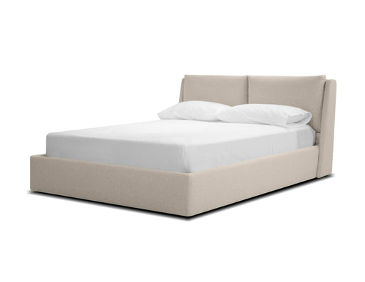 Mobital Bed Stone Wheat Tweed / Queen Continental Bed in Stone Wheat Tweed - Available in 2 Sizes