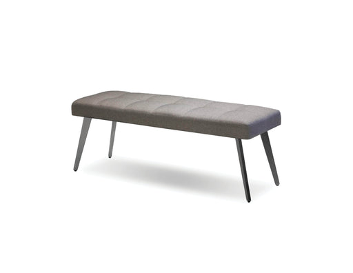 Mobital Bench Light Grey Brock Bench Light Grey Fabric With Brushed Stainless Steel