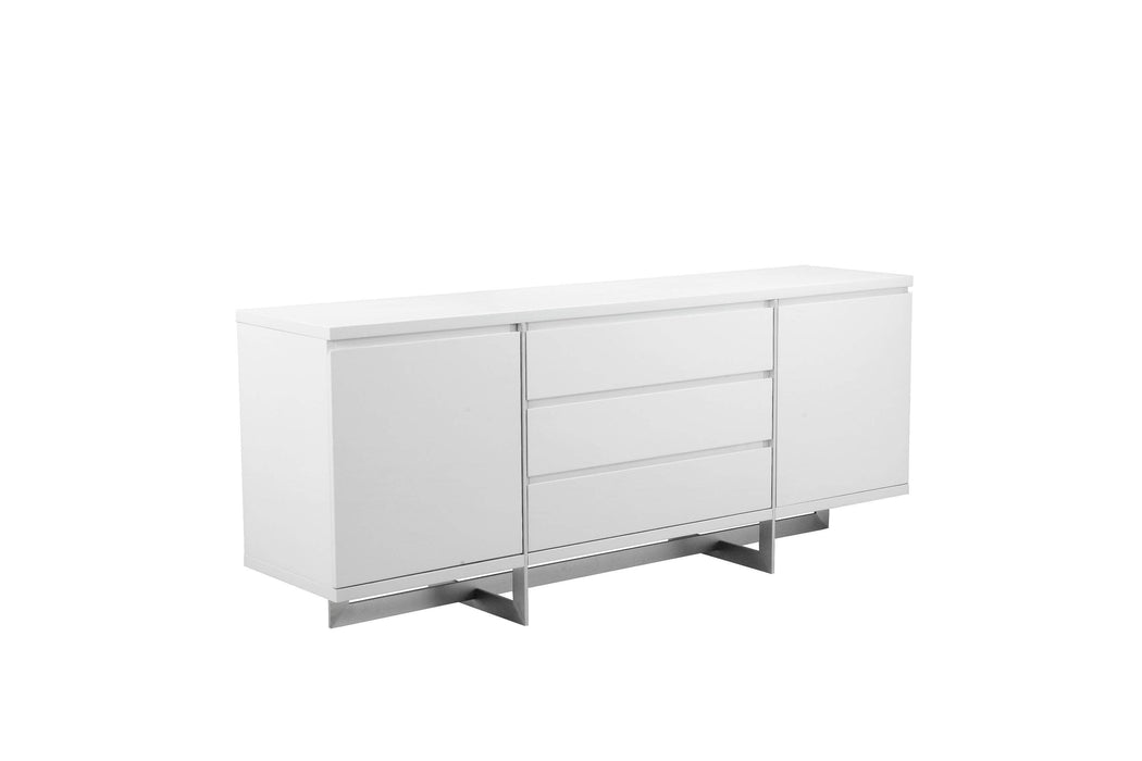 Mobital Buffet Remi Buffet With Brushed Stainless Steel - Available in 2 Colors