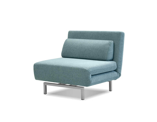 Mobital Chair-Bed Peacock Tweed Iso Single Sleeper Swivel Chair-Bed With Silver Powder Coated Steel - Available in 4 Colors