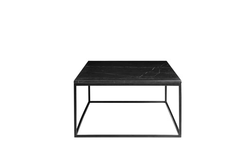 Mobital Coffee Table Black Onix Rectangular Coffee Table Black Nero Marquina Marble With Black Powder Coated Steel