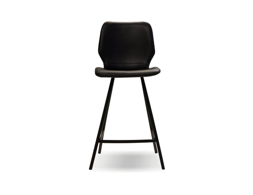 Mobital Counter Stool Black Bernadette Counter Stool Black Leatherette With Black Powder Coated Legs Set Of 2