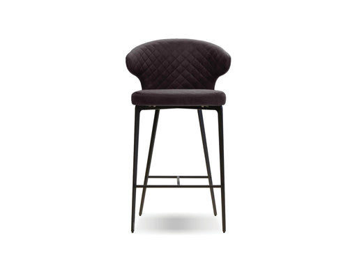 Mobital Hug Counter Stool in Black with Black Powder Coated Steel
