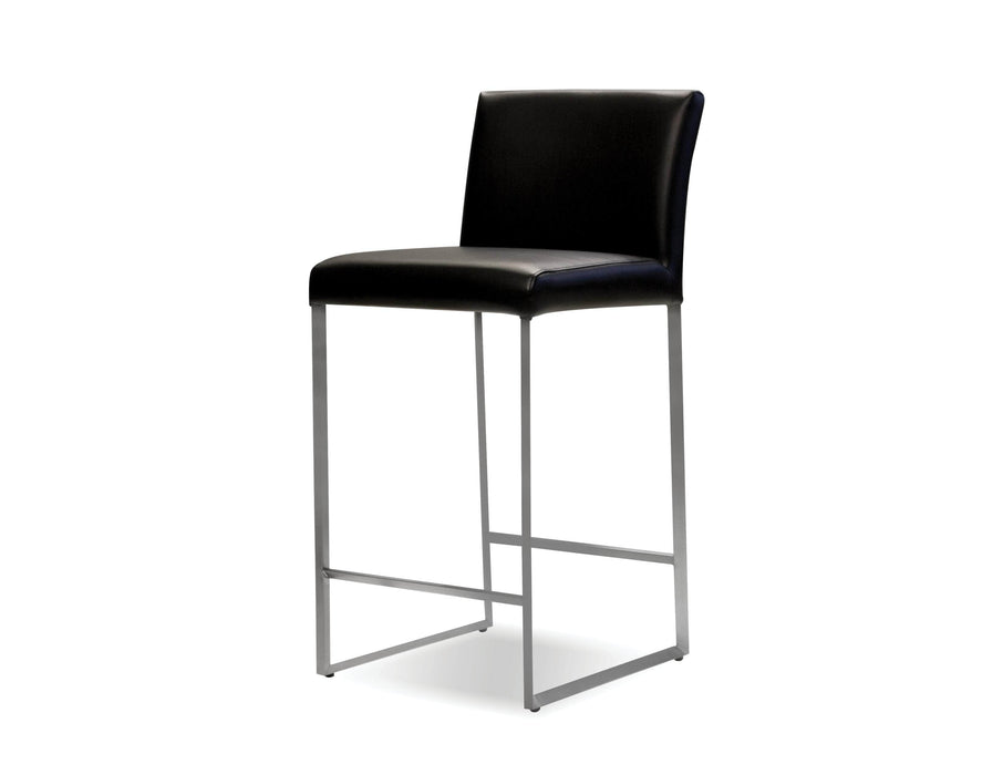 Mobital Counter Stool Black Tate Leatherette Counter Stool Black Leatherette - Available in 6 Colors