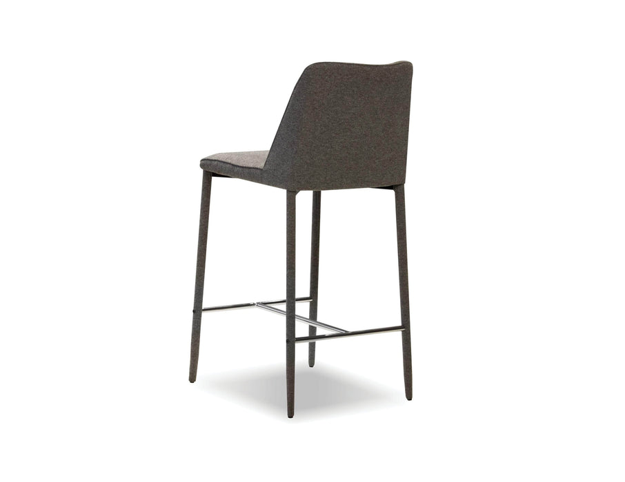 Mobital Counter Stool Dark Grey Billings Counter Stool Dark Grey Fabric With Metal Frame