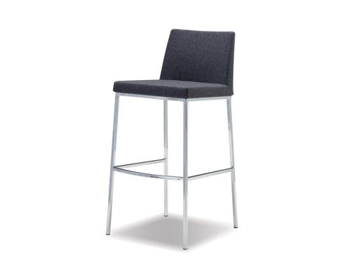 Mobital Weston Counter Stool in Dark Grey Cashmere with Chrome Frame (Set of 2)