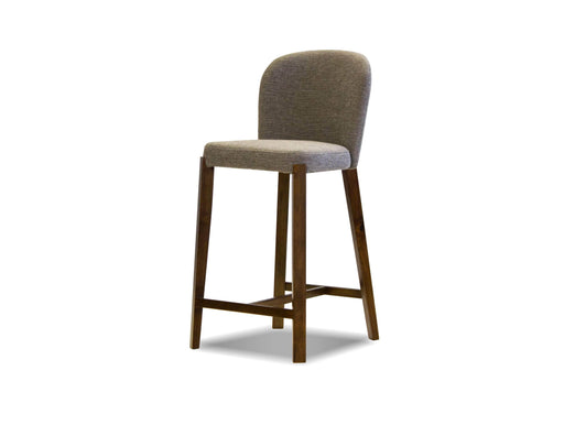 Mobital Counter Stool Gravel Hepburn Counter Stool Gravel Fabric With Walnut Legs