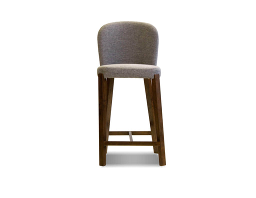 Mobital Hepburn Counter Stool in Gravel Fabric with Walnut Legs