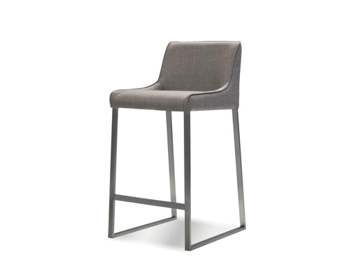 Mobital Counter Stool Light Grey Bennett Counter Stool Light Grey Fabric With Brushed Stainless Steel