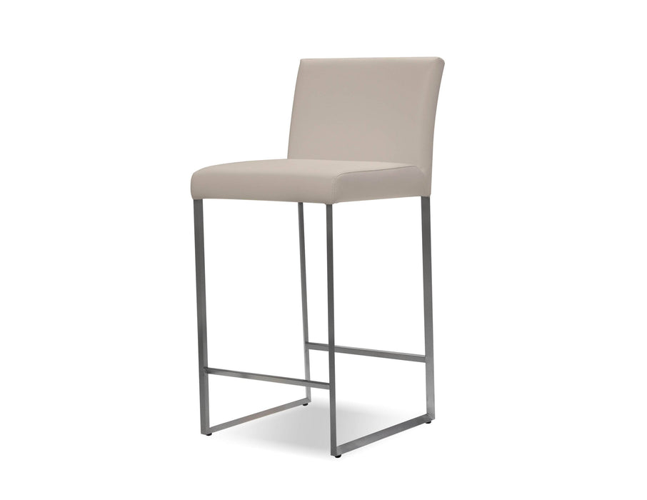 Mobital Counter Stool Pewter Tate Leatherette Counter Stool Black Leatherette - Available in 6 Colors
