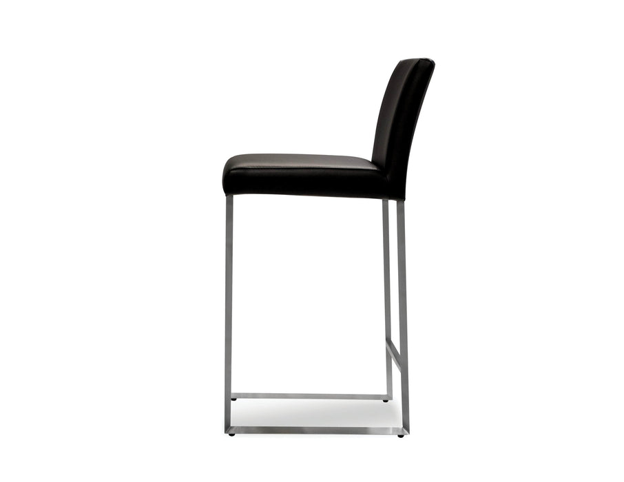 Mobital Counter Stool Tate Leatherette Counter Stool Black Leatherette - Available in 6 Colors