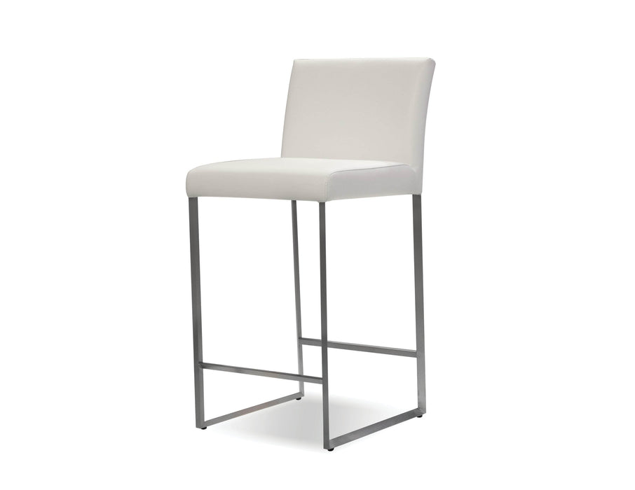 Mobital Counter Stool White Tate Leatherette Counter Stool Black Leatherette - Available in 6 Colors
