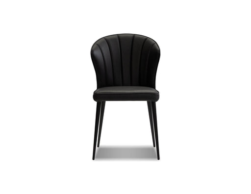 Mobital Dining Chair Ariel Leather Dining Chair with Black Powder Coated Legs Set Of 2 - Available in 2 Colors