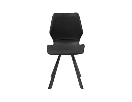 Mobital Dining Chair Bernadette Leatherette Dining Chair With Black Powder Coated Metal Set Of 2 - Available in 2 Colors