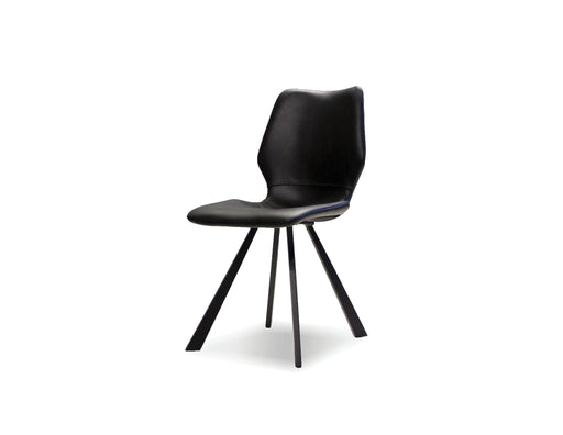 Mobital Dining Chair Black Bernadette Leatherette Dining Chair With Black Powder Coated Metal Set Of 2 - Available in 2 Colors