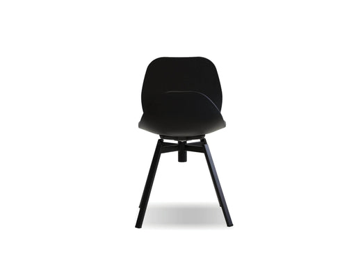 Mobital Dining Chair Black Petal Dining Chair Black With Black Powder Coated Steel Set Of 4