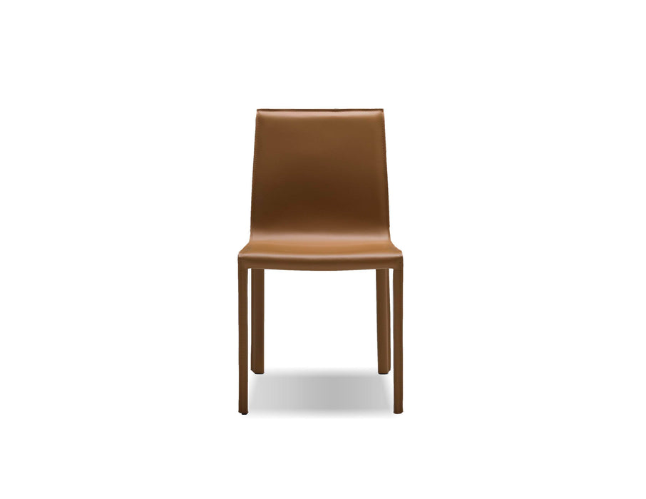 Mobital Dining Chair Caramel Fleur Dining Chair Full Leather Wrap Set Of 2 - Available in 4 Colors