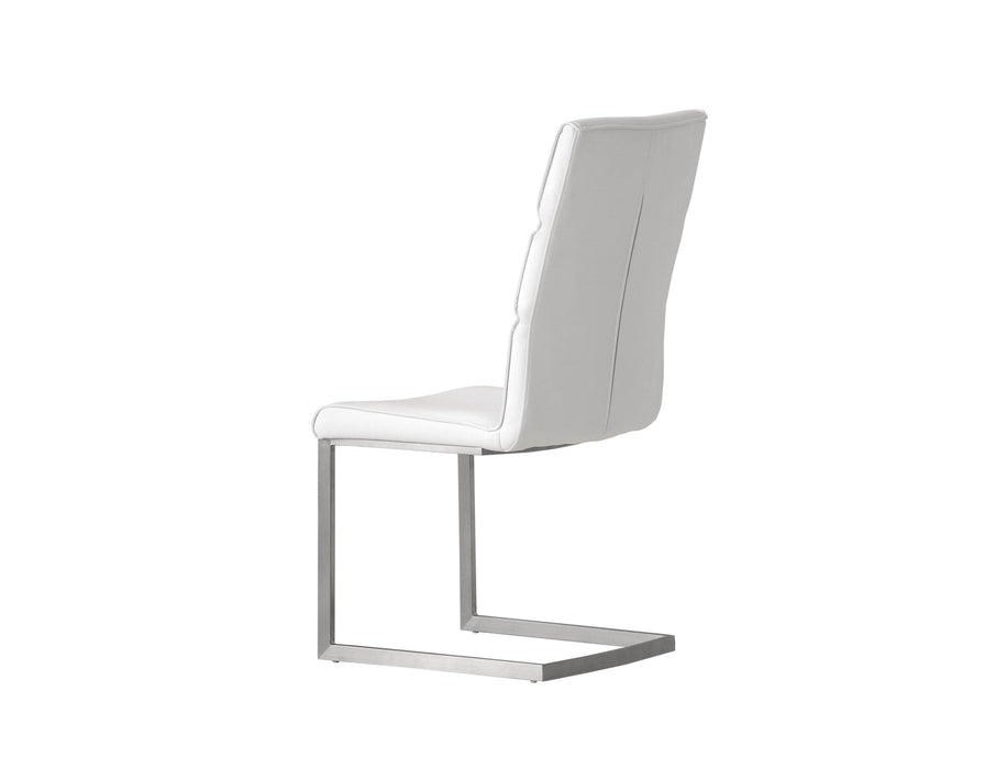 Pending - Mobital Dining Chair Duomo Leatherette Dining Chair With Brushed Stainless Steel Set Of 2 - Available in 2 Colors