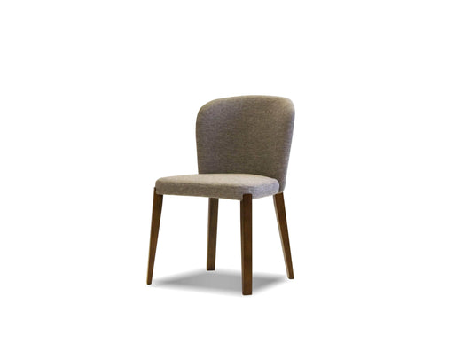 Pending - Mobital Dining Chair Gravel Hepburn Dining Chair Gravel Fabric With Walnut Legs Set Of 2