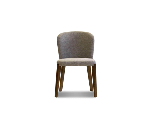Mobital Hepburn Dining Chair in Gravel Fabric with Walnut Legs (Set Of 2)