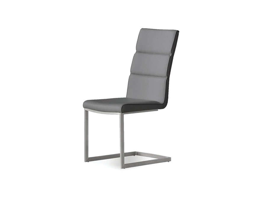 Mobital Duomo Leatherette Dining Chair with Brushed Stainless Steel (Set Of 2)