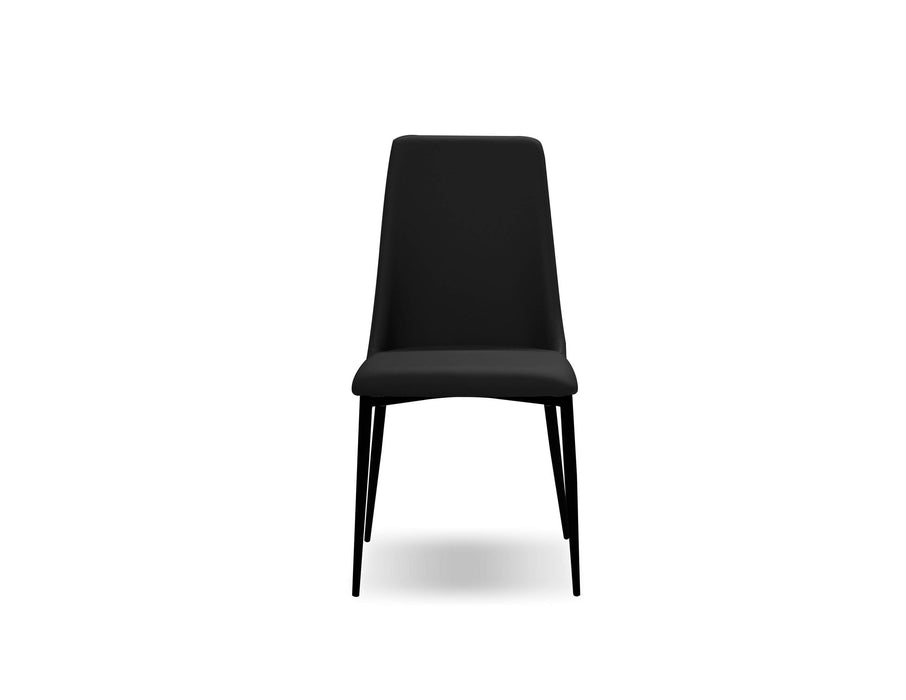 Mobital Seville Dining Chair with Matte Black Legs (Set Of 2)
