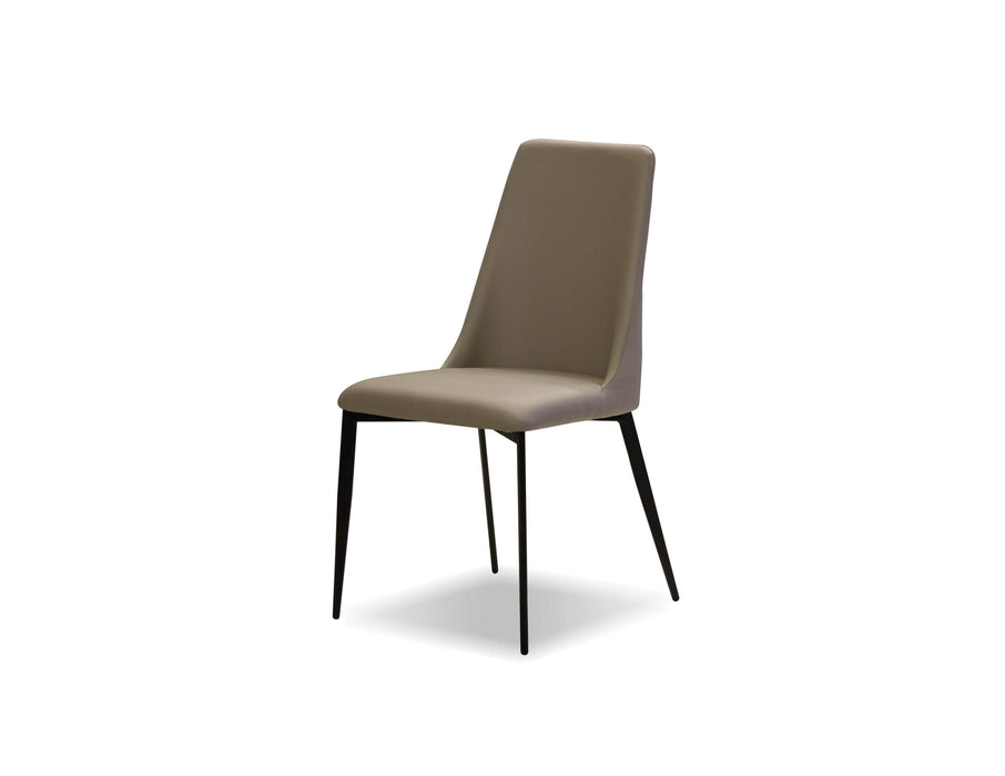 Mobital Dining Chair Taupe Seville Dining Chair With Matte Black Legs Set Of 2 - Available in 2 Colors