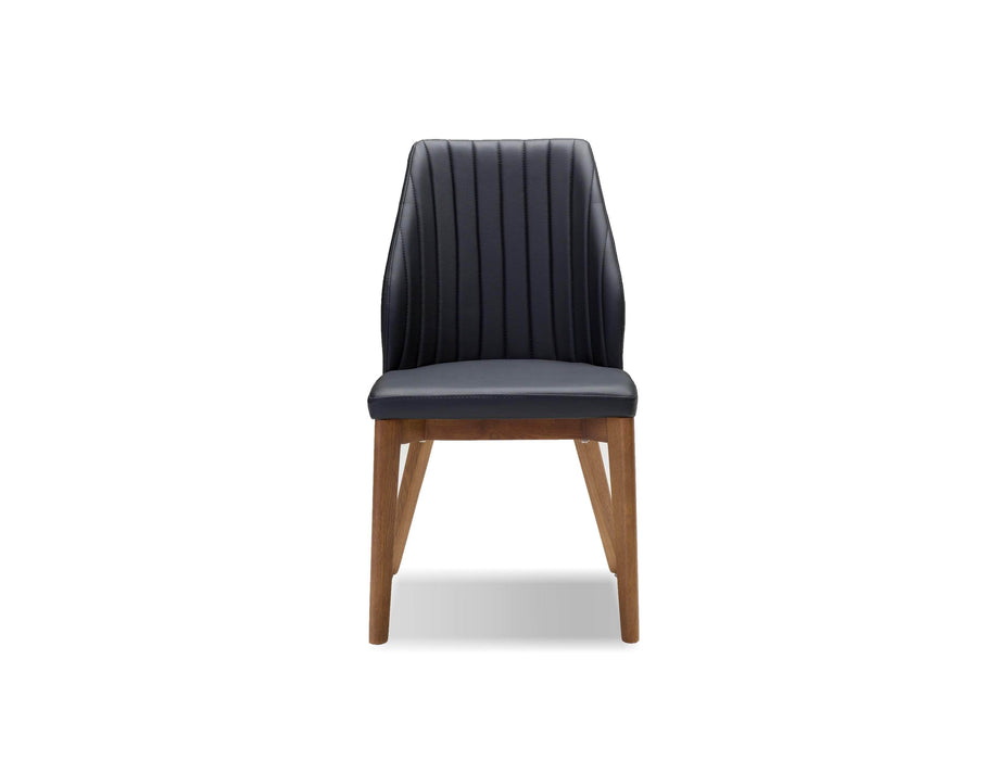Pending - Mobital Dining Chair Totem Leatherette  Dining Chair With Ash Wood Set Of 2 - Available in 2 Colors