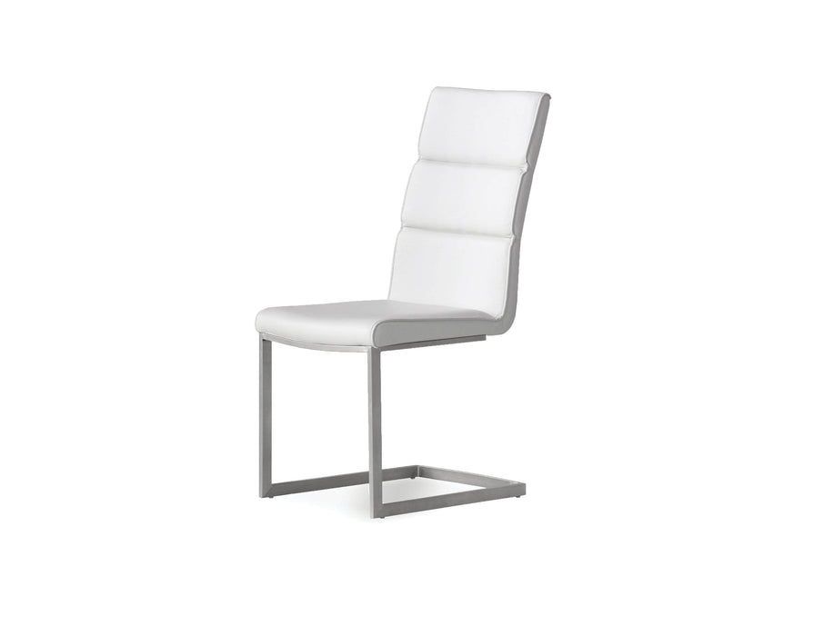 Pending - Mobital Dining Chair White Duomo Leatherette Dining Chair With Brushed Stainless Steel Set Of 2 - Available in 2 Colors
